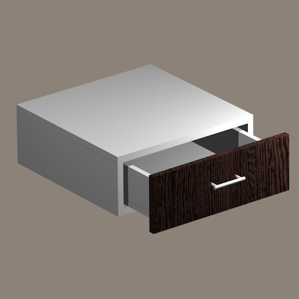 Schublade mit Einbaurahmen Unterbau fähig